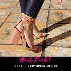 Shoes - DARK BLUSH WRAP AROUND STRAPPY SANDAL